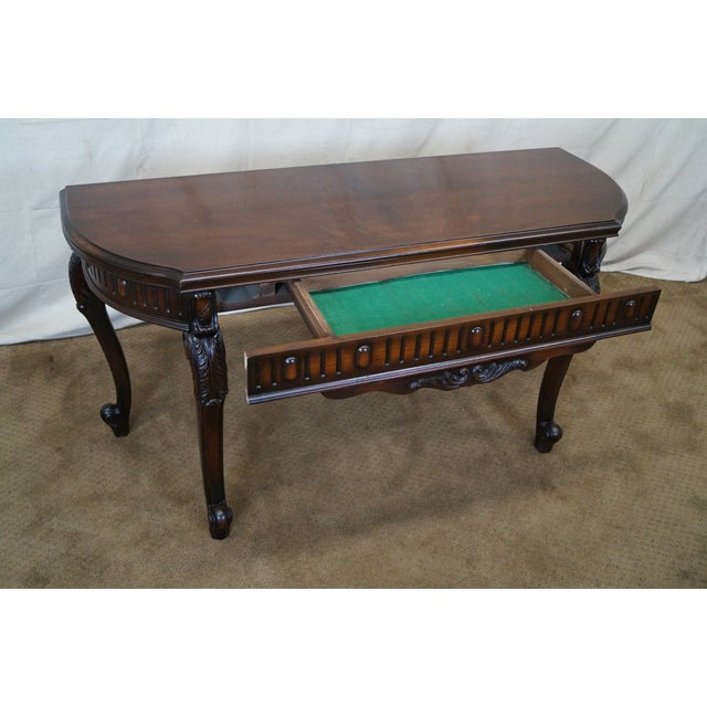 Antique Walnut Console Game Table - Image 6 of 10