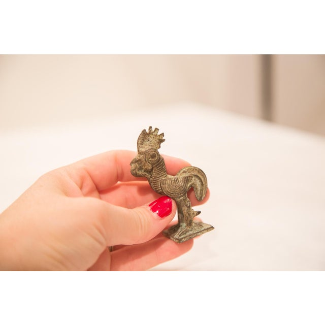 Vintage Bronze Rooster Figurine / Ashanti Gold Weight - Image 2 of 5