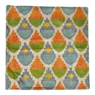 Silk Velvet Square Pillow For Sale