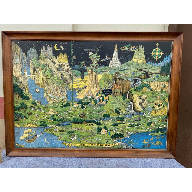 """Green 1930 """"The Land of Make Believe"""" Landscape First Edition Print by Jaro Hess, Framed For Sale - Image 8 of 8"""