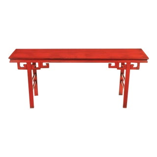 Circa 1950s Chinese Altar Table In Cinnabar Lacquer For Sale