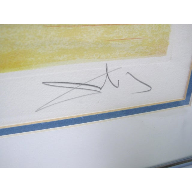 """Late 20th Century Vintage Salvador Dali Print """"Homage to Papillon"""" For Sale - Image 5 of 9"""