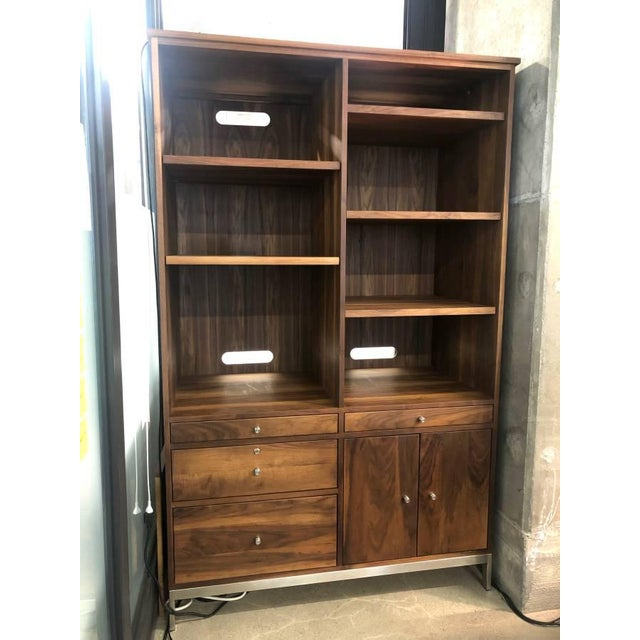 Brown Mid-Century Modern Room and Board Solid Walnut Cabinet For Sale - Image 8 of 8