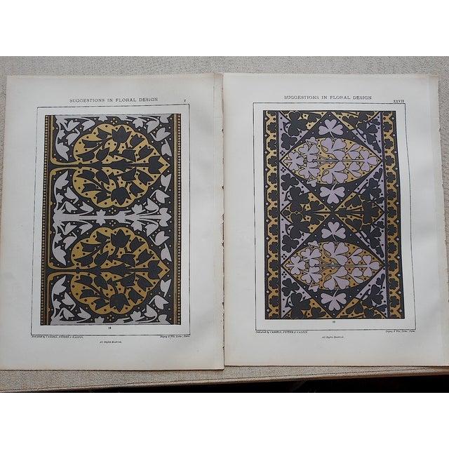 Ornamental Design Folio Size Chromolithograph - a Pair - Image 2 of 4