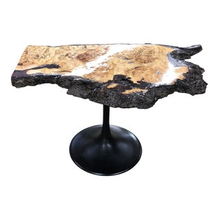 Organic Modern Live Edge Side Table For Sale