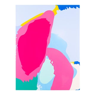 "Carolanna Parlato ""Morning Glory"" Abstract Colorful Pink Painting For Sale"