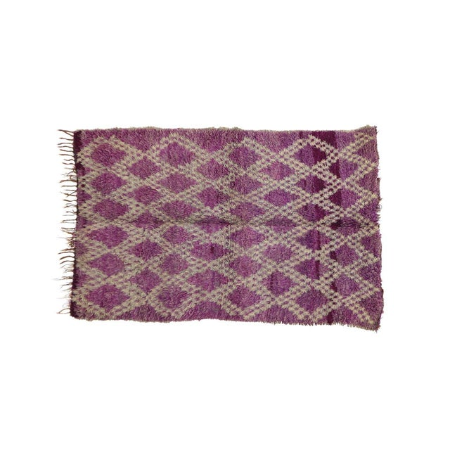 1970s Vintage Boujad Moroccan Rug- 4′7″ × 6′4″ For Sale - Image 4 of 6