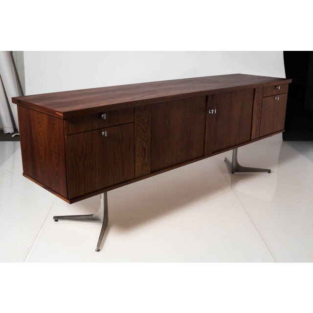 Mid-Century Modern Midcentury Rosewood Credenza For Sale - Image 3 of 11