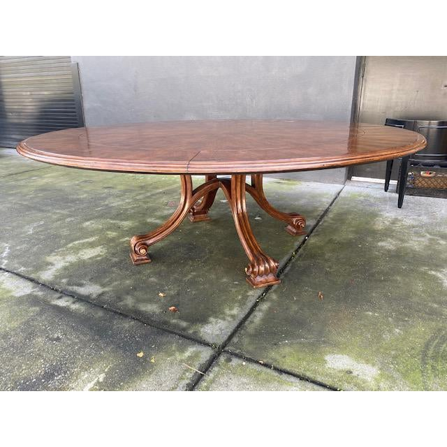 1970s Thierin Round Dining Table With Leaves For Sale - Image 10 of 13