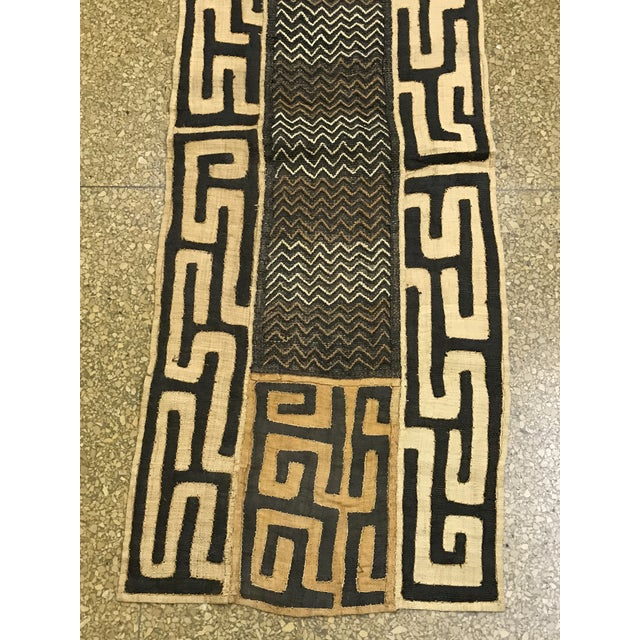 African Art Tribal Art Handwoven Kuba Cloth - Image 5 of 7