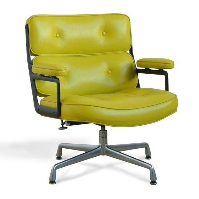 Eames Time-Life Chair with Green Leather by Herman Miller For Sale - Image 10 of 10