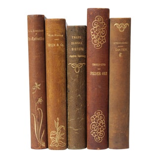Art Nouveau Leather-Bound Books, S/5