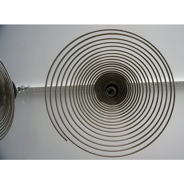 Spiral Spring Chrome Industrial Style Chandelier by Angelo Mangiarotti For Sale - Image 10 of 13