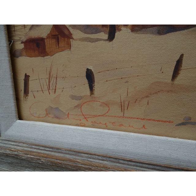 Charles Payzant Double-Sided Western Watercolor For Sale In Los Angeles - Image 6 of 8