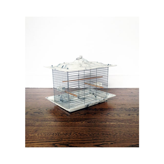 Shabby Chic Mid Century Bakelite Bird Cage For Sale - Image 3 of 6