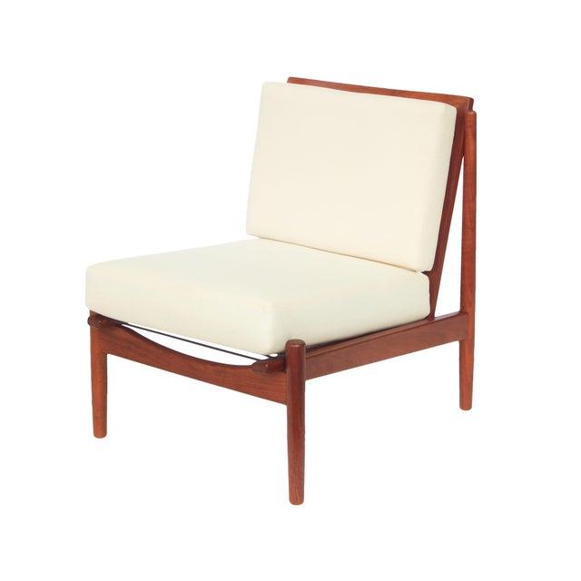 Danish Modern Mid-Century Danish Modern Slipper Chairs - a Pair For Sale - Image 3 of 13