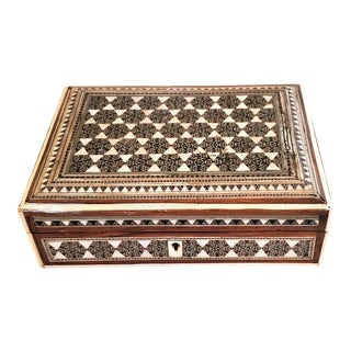 19c Anglo Indian Bombay Mop Sadeli Trinket Box For Sale