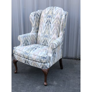 Upholstered Pastel Flame Stitch Wing Chair Preview