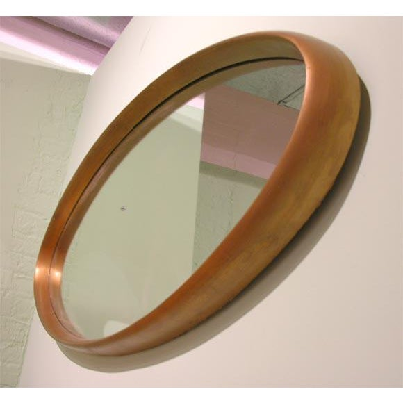 Mid-Century Modern La Barge Gilt Wood Oval Mirror For Sale - Image 3 of 7