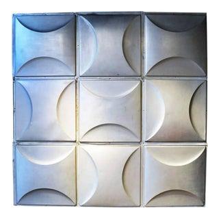 Vintage Aluminum Wall Panels- Set of 9 For Sale