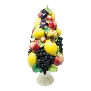 Vintage Mid 20th Century Italian Porcelain Fruit Topiary For Sale