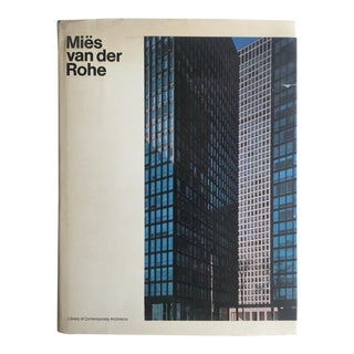 """"""" Mies Van Der Rohe """" Rare Vintage 1970 1st Edtn Mid Century Modernism Collector's Architecture Book For Sale"""