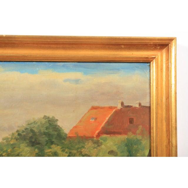 1953 Hjalmar Kragh-Pedersen Expressionist Pastoral Landscape For Sale - Image 4 of 6