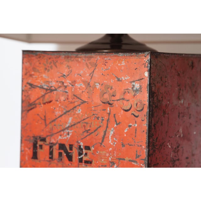 Metal Antique Fine Teas Table Lamp For Sale - Image 7 of 8