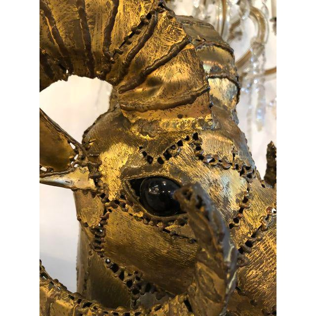 Luciano Bustamante Brass Patchwork Ram For Sale - Image 9 of 11