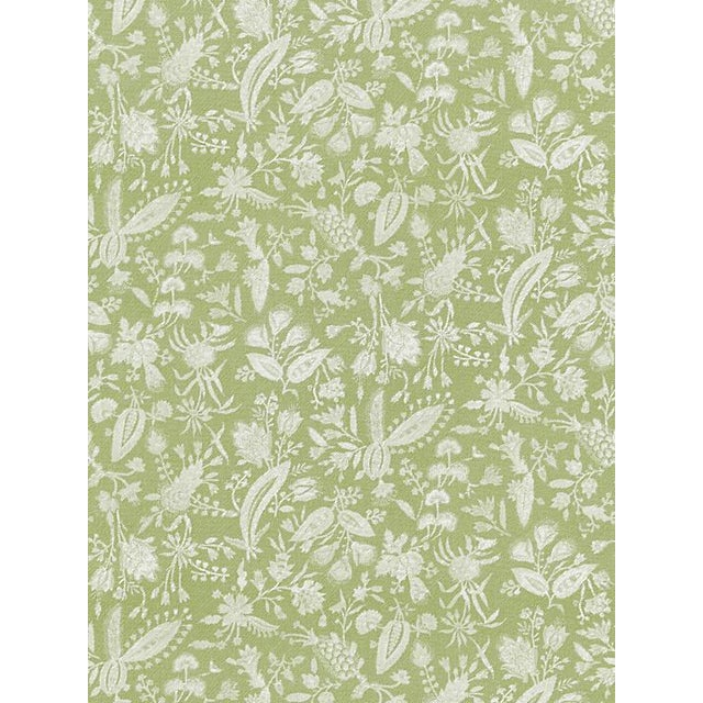 Traditional Scalamandre Tulia Linen Print, Willow Fabric For Sale - Image 3 of 3