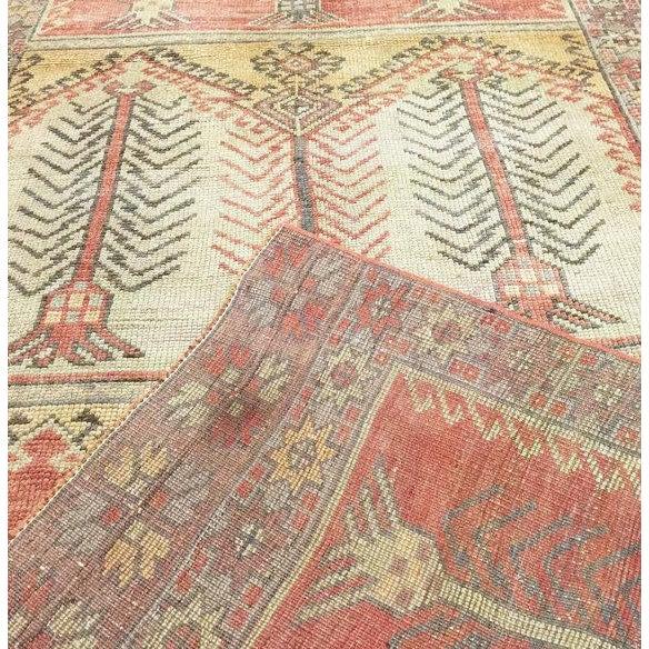 """Vintage Turkish Anatolian Oushak Rug - 3'7"""" X 10' - Image 3 of 3"""
