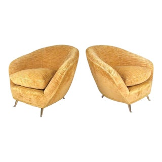 Marco Zanuso Style Lounge Chairs - a Pair For Sale