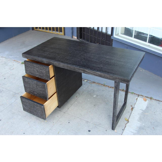Morris of California Architectural Oak Desk For Sale - Image 5 of 11