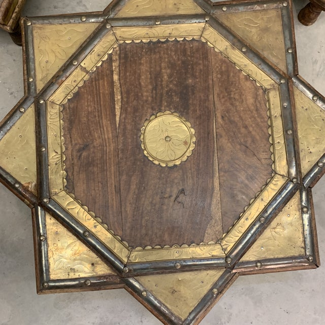 Vintage Moroccan Star Stacking Tables For Sale In Richmond - Image 6 of 12