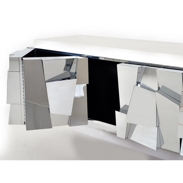 Silver Paul Evans Cityscape ii Faceted Console, model PE370, 1973 For Sale - Image 8 of 8