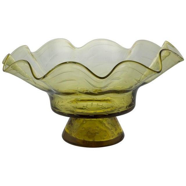 Ruffled Shape Blenko Bowl - Image 10 of 10