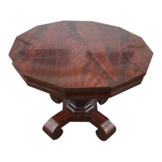 Antique American Empire Mahogany Pedestal Base Center Table For Sale