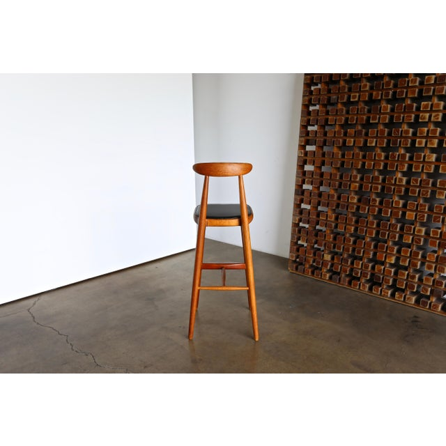 Vilhelm Wohlert for Stolefabriken Odense Danish Stools- Set of 3 For Sale - Image 9 of 13