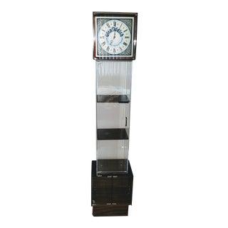 1980's Vintage Lucite Glenfiddish Whiskey Floor Clock For Sale