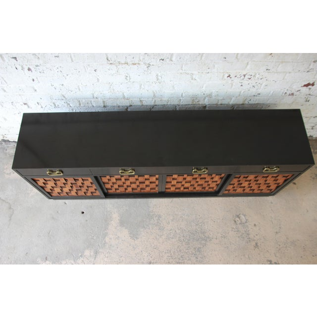 Edward Wormley for Dunbar Woven Front Sideboard Credenza For Sale - Image 11 of 13