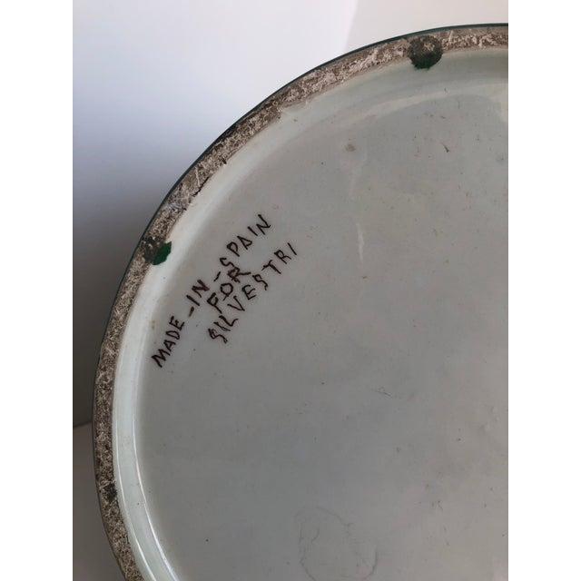 Vintage Boho Glazed Ceramic Candle Holder -- Spain For Sale - Image 10 of 13