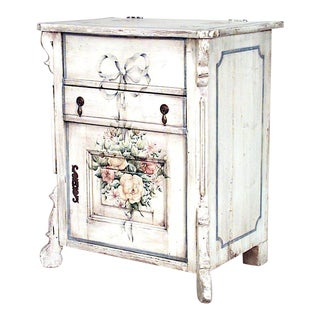 English Country Painted Bedside Commode For Sale