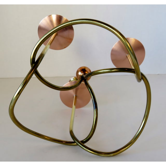 Mid 20th Century Metal Knot Candelabra For Sale - Image 5 of 6
