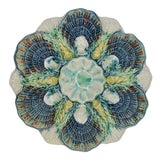 Image of Antique English Majolica George Jones Oyster Plate, 1800s For Sale