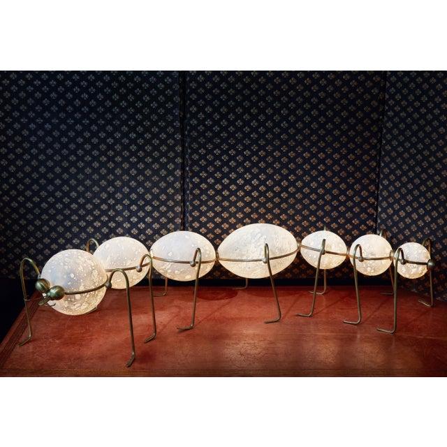 Caterpillar, floor lamp sculpture, Vincent Darré and Ludovic Clément d'Armont Blown glass, textile, brass Dimensions: 22 x...