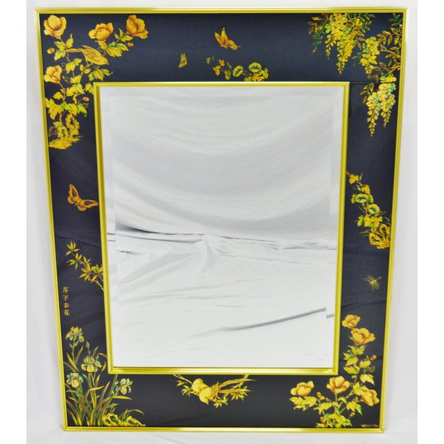 Vintage La Barge Reverse Painted Glass Frame With Beveled Mirror - Artist Signed For Sale - Image 13 of 13