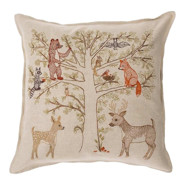 Woodland Living Tree Pillow - Image 1 of 3