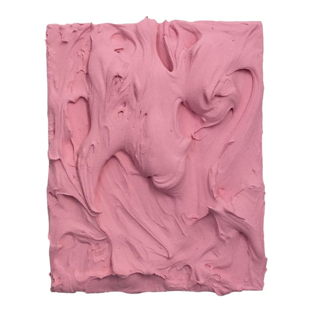 Pink Insulation Excess Sculptural Painting For Sale