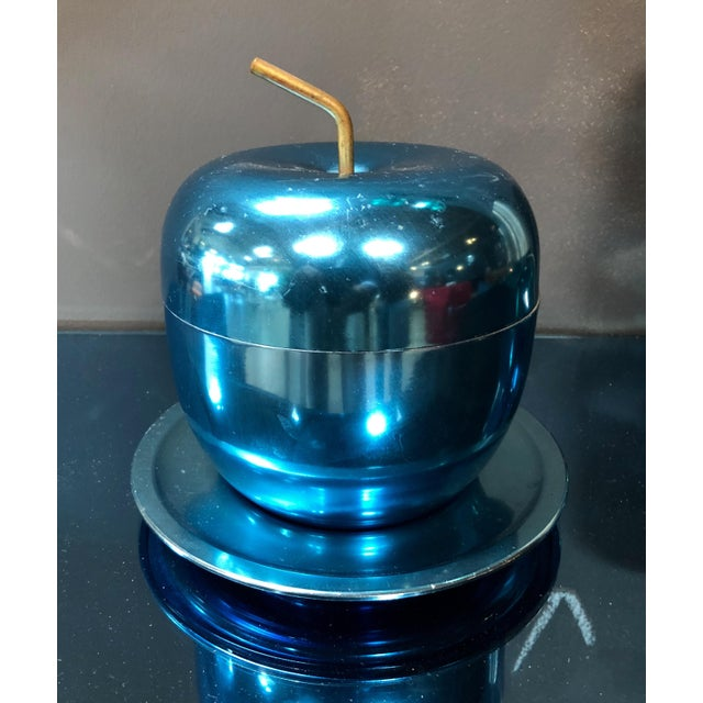 """Mela"" apple ice blu bucket designed by Ettore Sottsass in 1953 for Rinnovel. Sottsass wasn't originally Italian, he was..."