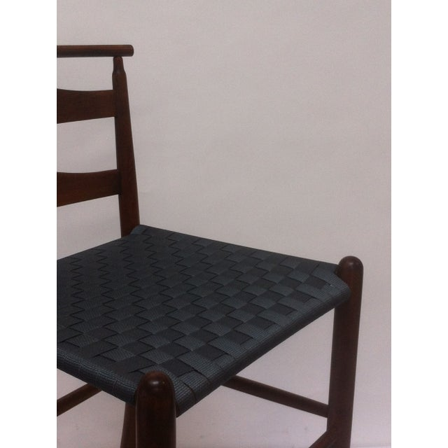 Mid-Century Modern Mid-Century Modern Wood Bar Height Chair For Sale - Image 3 of 4